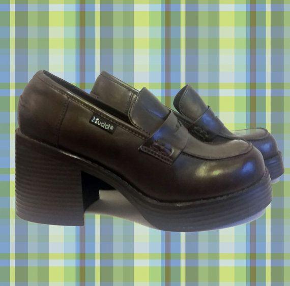 Dark Brown Chunky Platform 90s Mudd Shoes Shoes Brown