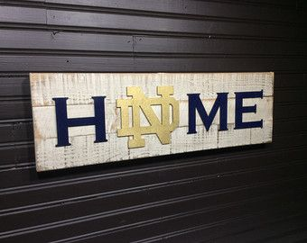 Notre Dame Fighting Irish Subway Art Board by MamaGeppetto on Etsy