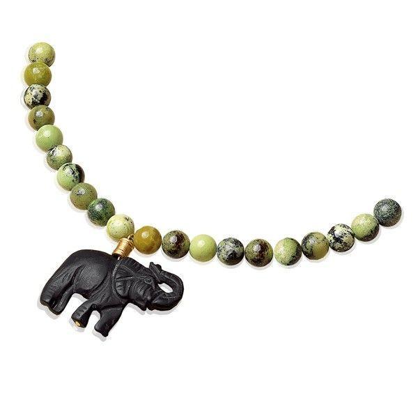 Waszak, Petra: Perlencollier »Afrikanischer Elefant«