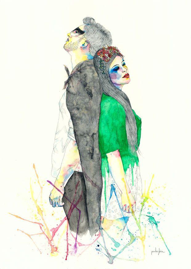 """""""Dibusicados"""", una serie de ilustraciones sobre canciones del indie y el pop rock actual. Paula Sifora."""