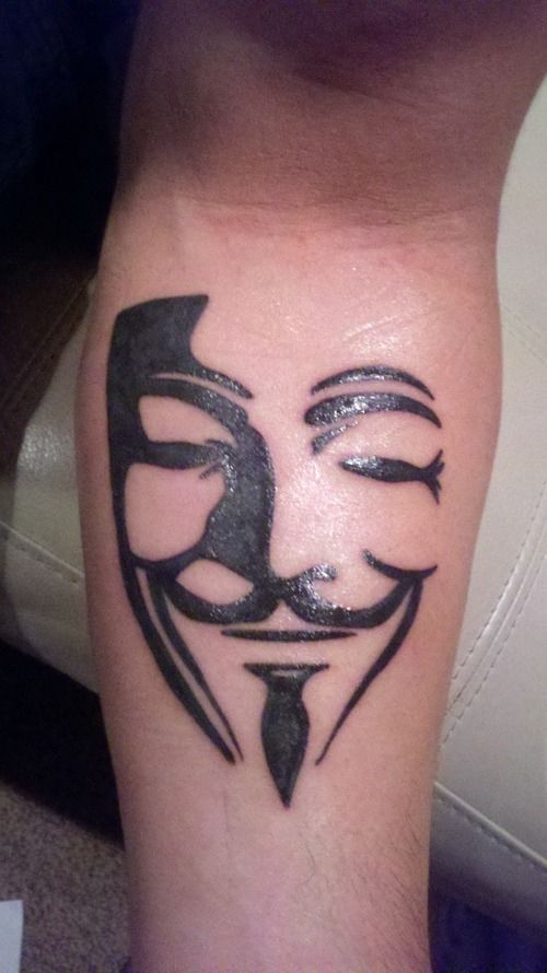V for vendetta Tattoo - http://99tattooideas.com/v-vendetta-tattoo/ #tattoo