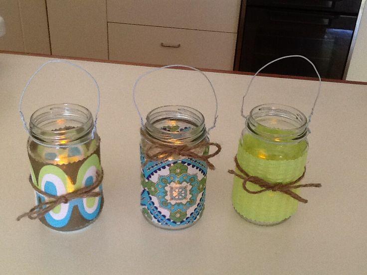 Glass Jar Lanterns for Fussypots Childrens Parties