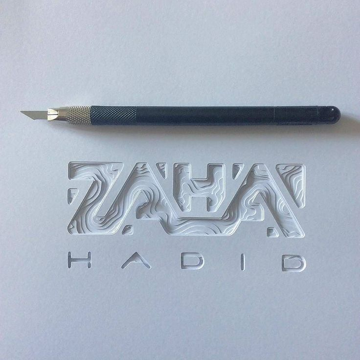 Incredible paper cut tribute to Zaha Hadid by @darkgravity | #typegang if you would like to be featured | typegang.com by type.gang