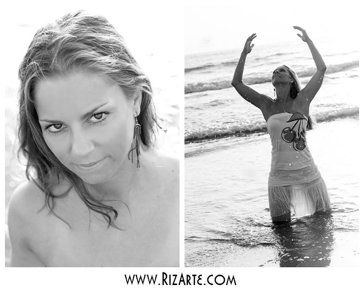 Black&White Portrait Session at the Beach  www.RizArte.com