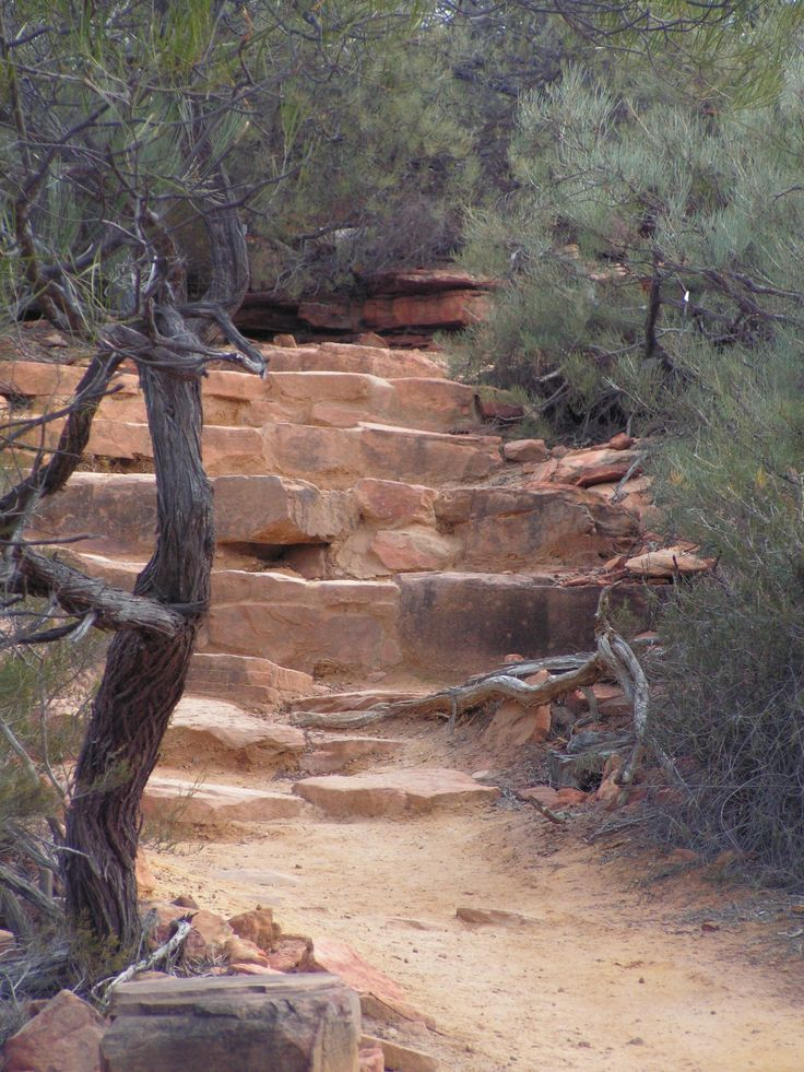 Natural stairs. Kalbarri NP
