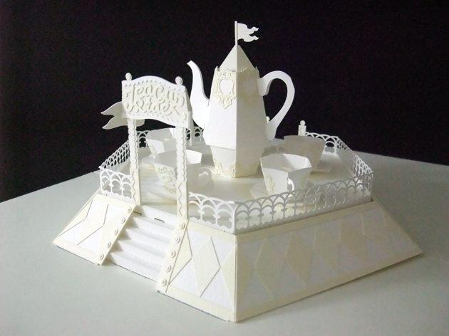 Hiroko Momoi Tea Cup Ride Pop Up Paper Craft Httpyoutu