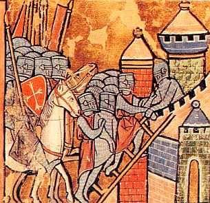 Le récit de la Première Croisade, des chevaliers croisés tels que Godefroi de Bouillon ou Tancrède de Hauteville. La bataille d'Antioche et la prise de Jérusalem ainsiq que la création de l'ordre des templiers.
