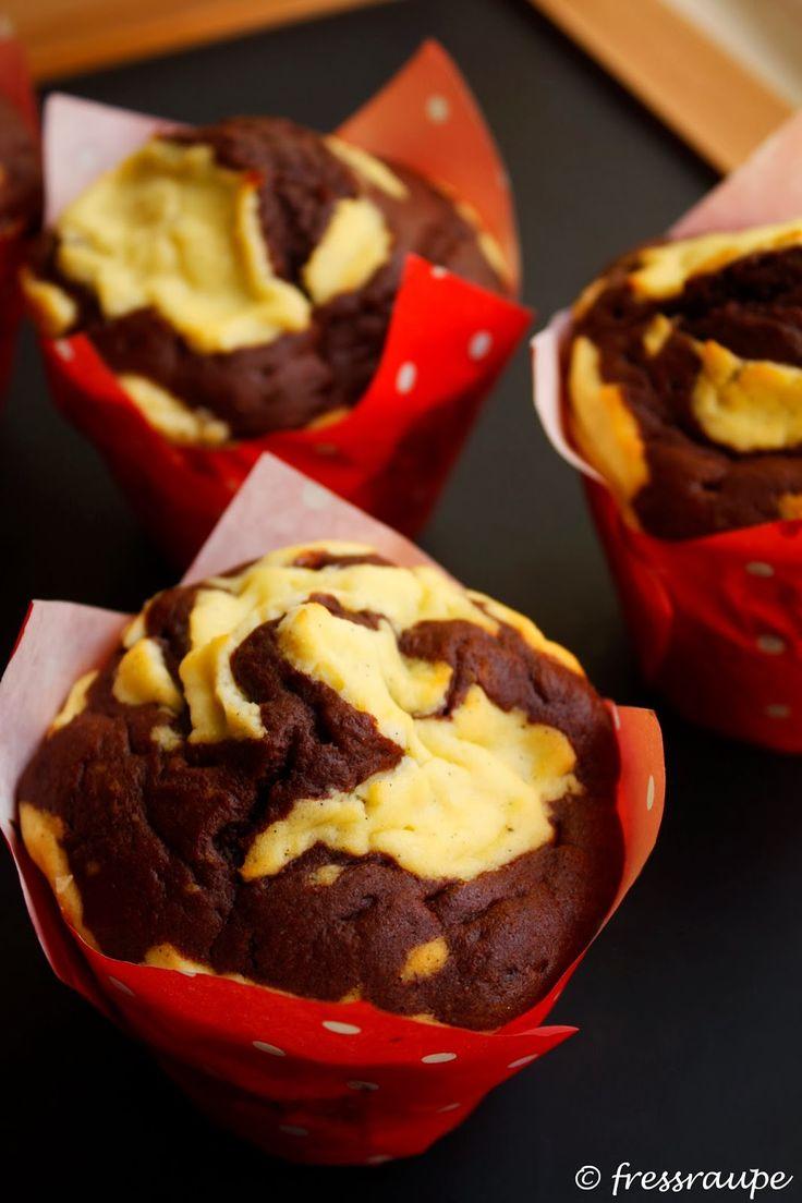 fressraupe: Schoko-Käsekuchen-Muffins