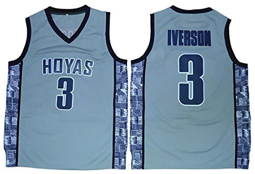 24a60e5b3 ... Mens Georgetown Hoyas 03 Allen Iverson College Basketball Jersey Dark  Blue - httpbasketballjerseys.nationalsales.