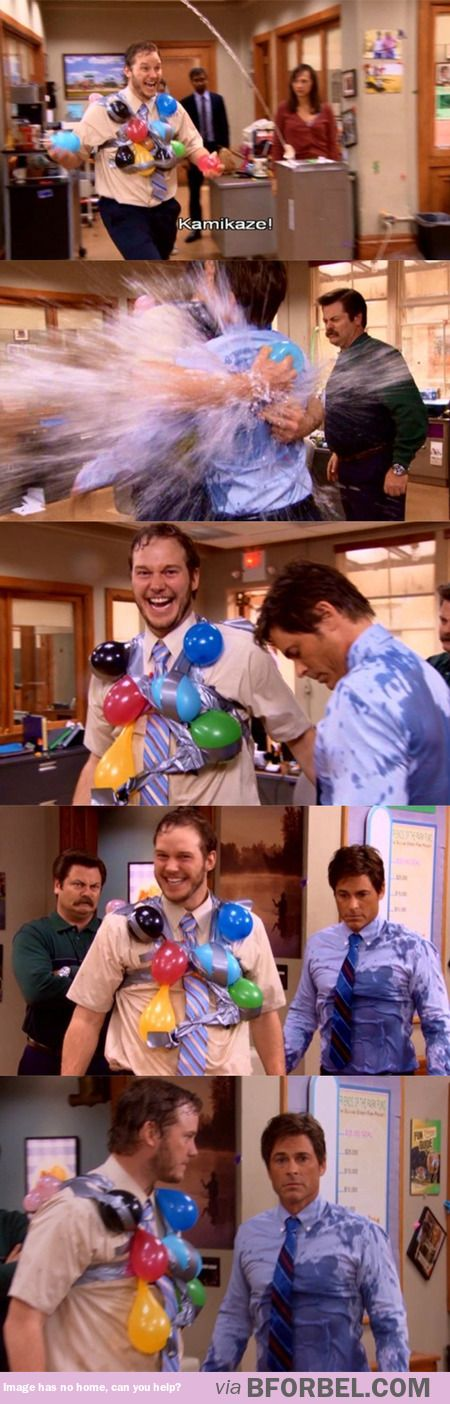 Andy Dwyer is my spirit animal