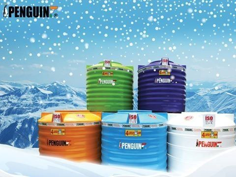 Colourful range of plastic water storage tank for cool and