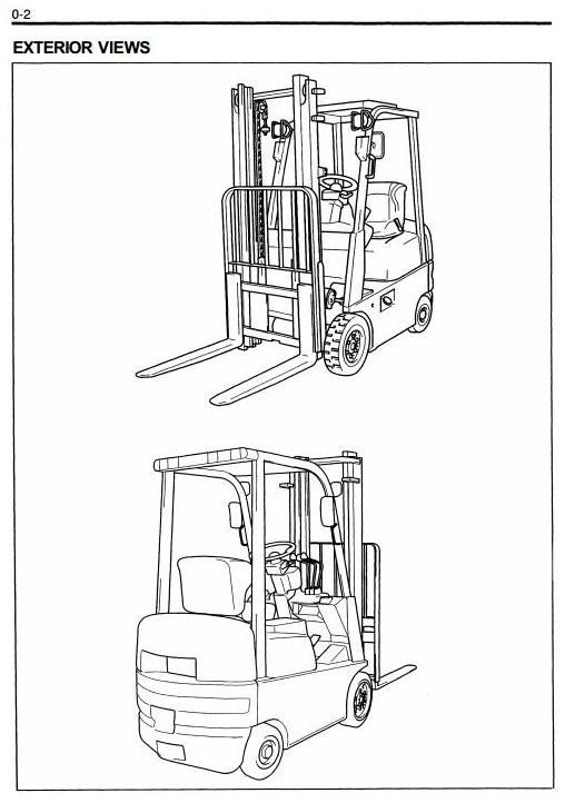 Toyota Electric Forklift Truck FBESF10 FBESF12 FBESF15