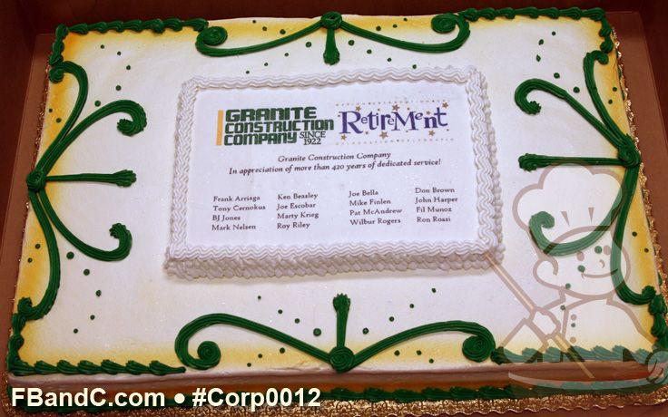 Sheet Cake Designs For Retirement : Full sheet retirement party cake. Retirement Party ...