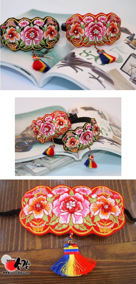 korean traditional clothes hair accessory for girl and women - hair band, bae ssi daenggi deagki