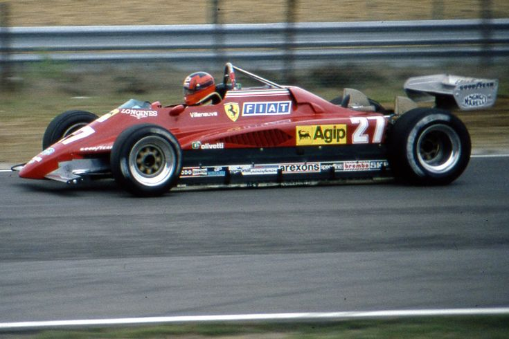 Joseph Gilles Henri Villeneuve (CAN) (Scuderia Ferrari), Ferrari 126C2 - Ferrari Tipo 031 1.5 V6 (t/c) (Belgium 1982)