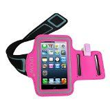 IPOW Pink iPhone 5/5s/5c iPod Touch 5 Sport Armband Belt Strap Band Sleeve Case Cover Pouch + Key Holder for Running Jogging Gym Cycling Workout - https://www.trolleytrends.com/?p=329032