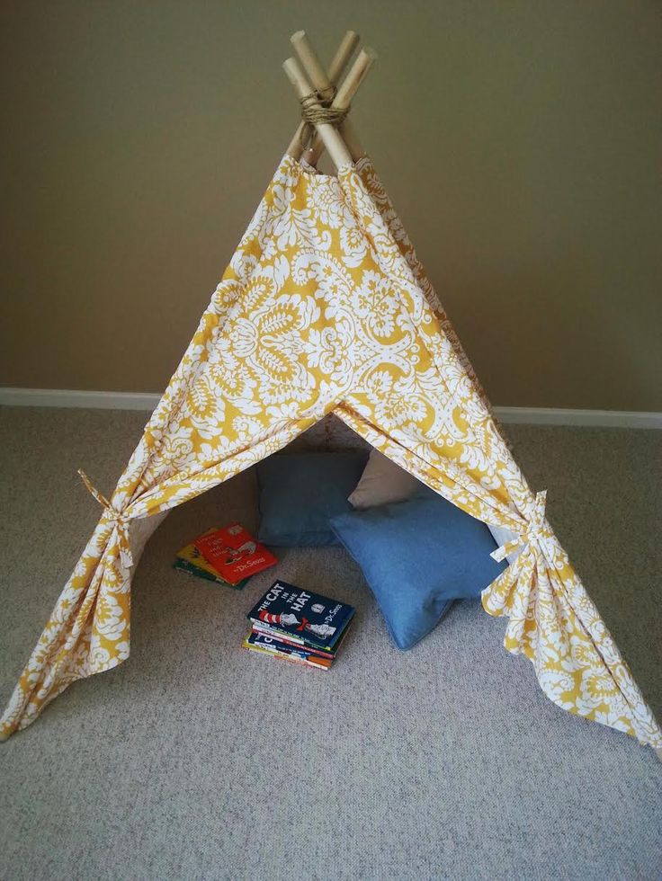 This DIY Kids Teepee Tent Tutorial is absolutely perfect for your children to play with every day. Makes a great gift and the perfect space for a child.