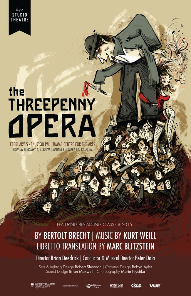 The Threepenny Opera University Of Alberta The Threepenny Opera Opera Theatre Poster