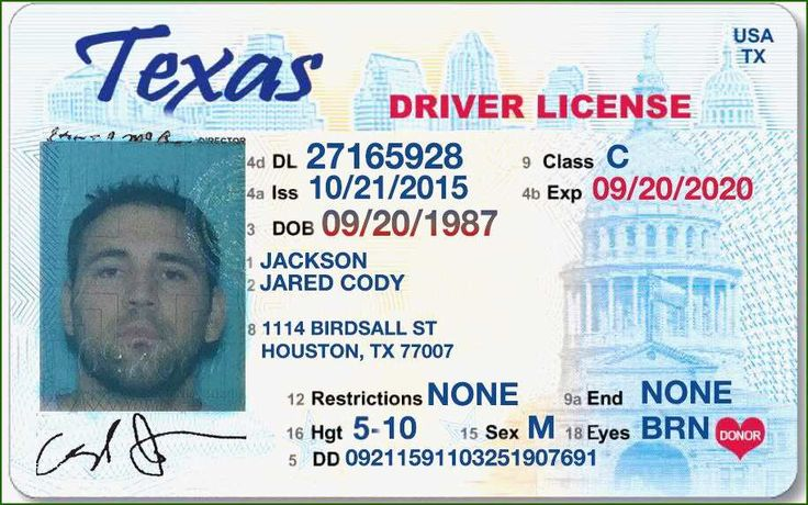12 Finest Texas Fake Id Template in 2020 Drivers license