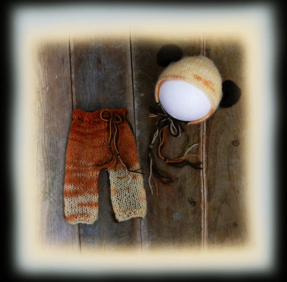 Mohair Bonnet Pants Set / Baby Boy Pants and by GabriCollection