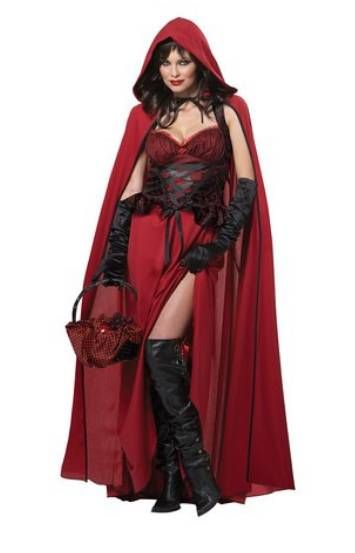 dark red riding hood costume halloween costume
