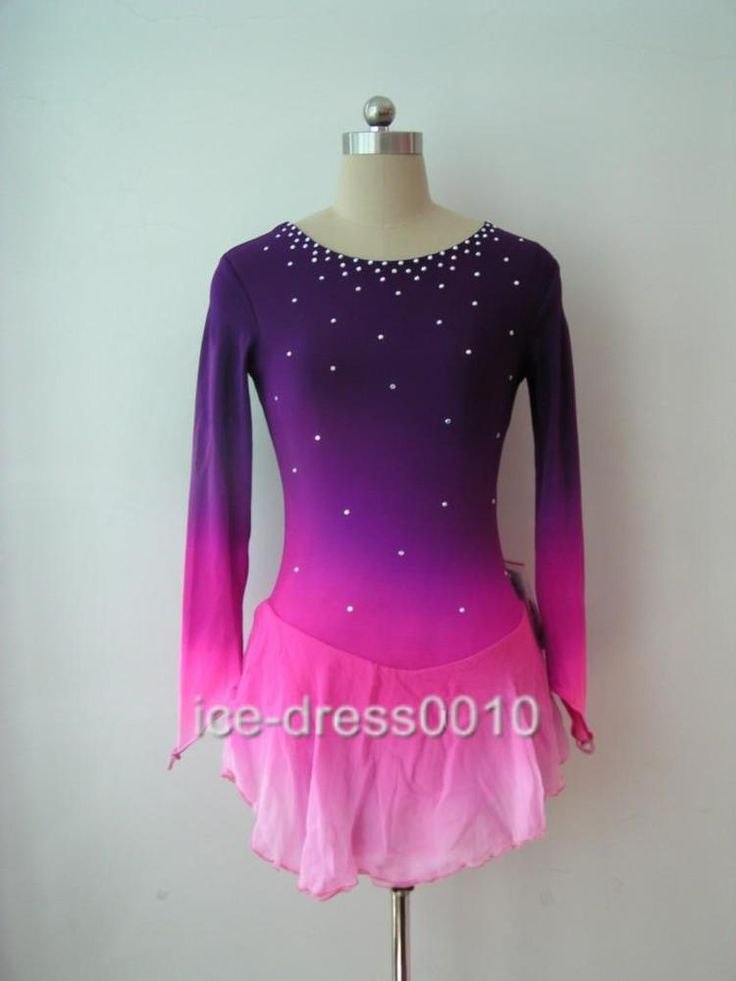 We are a very professional team to make ice skating dress.All the dress. This dress has gorgeous sparkly sequin designs on the front and the back bodice. This is a new custom dress by a designer who has more than 15 year experience to making ice dress. | eBay!
