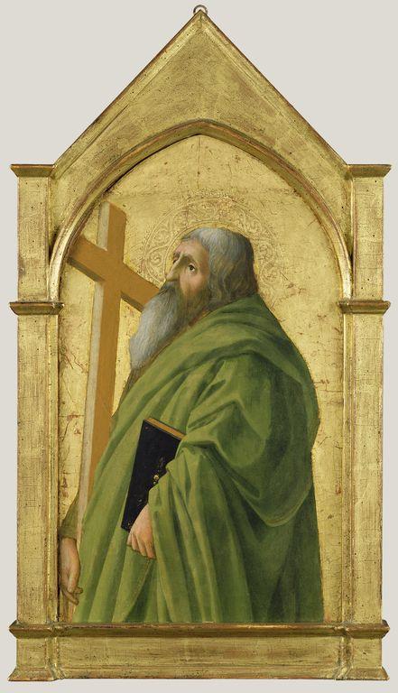 Masaccio, Sant'Andrea, Getty Museum (N.P) Los Angeles. Il pezzo faceva parte di un grande polittico originariamente a Pisa