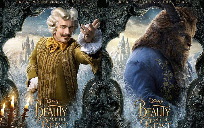Scarica sfondi La bella e la Bestia, 2017, i nuovi film, 2017 film, Dan Stevens, Evan Mcgregor