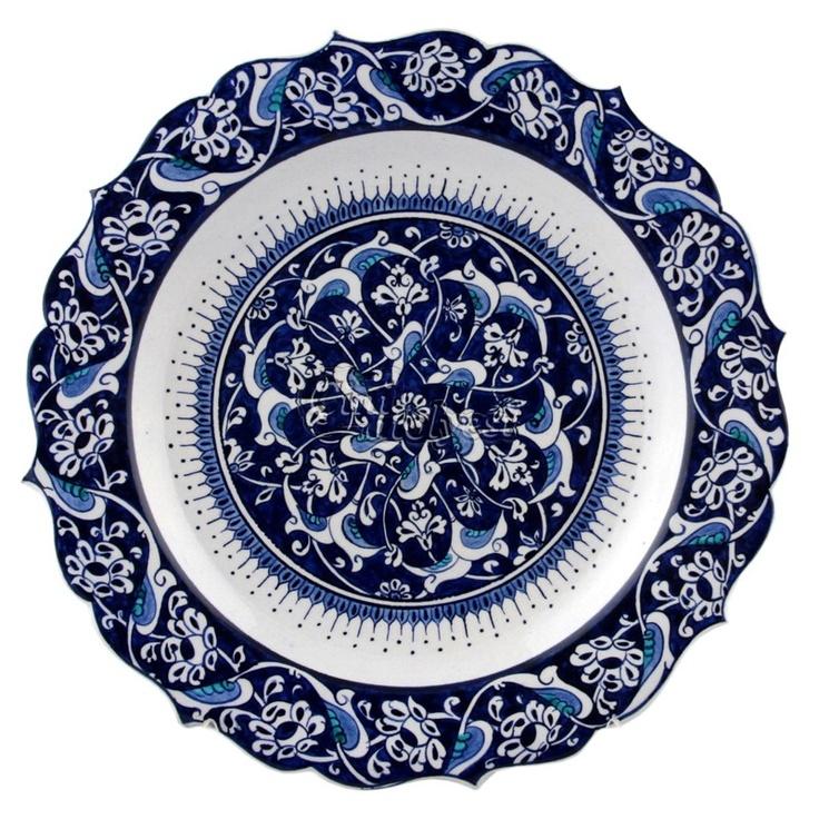 Mavi Beyaz Çini Tabak