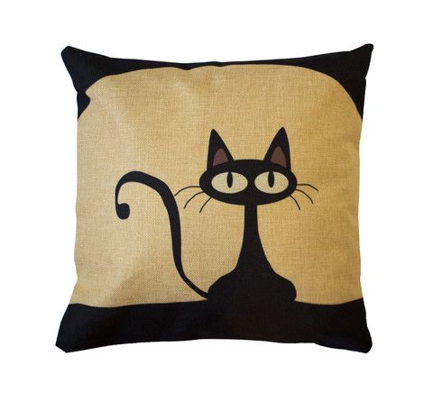 Mr. Kitster Toss Pillow – Meowingtons. This is the look of cat I've been obsessed with since I was a child. Perfect.