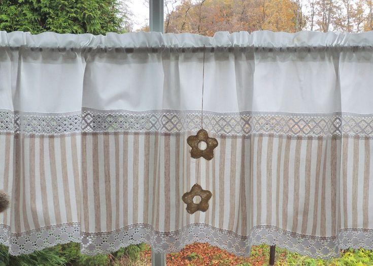 Gardinen - Zeitlose Gardine Landhaus und auch klassisch - ein Designerstück von Landhaus-Wohntextilien bei DaWanda