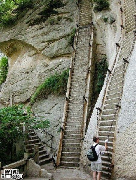 Hike the most dangerous hike in the world, Huashan Mountain.