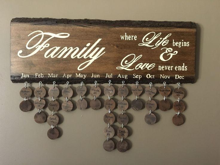 Wood Family birthday sign