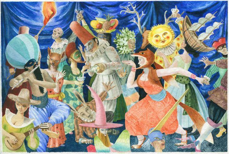 "Fabian Negrin illustration for ""Cuentos de monstruos""."