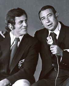 Don Meredith and Howard Cosell