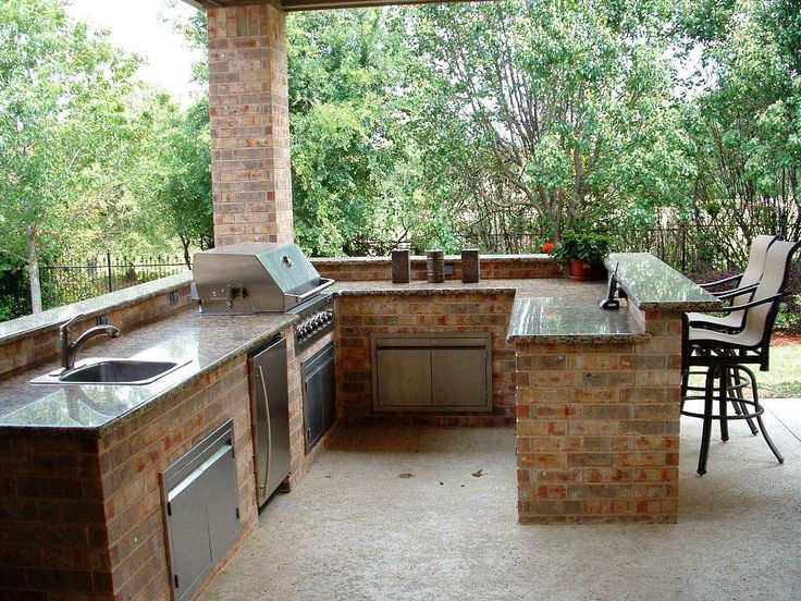 232 best outside kitchen ideas images on pinterest get for Simple outdoor kitchen designs