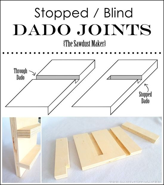Blind And Stopped Dado Joints What It Is And How To Make It The Sawdust Maker Build Pinterest How To Make It Is And Woodworking