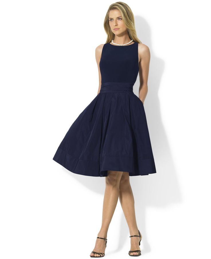 Lauren Ralph Lauren Pleated Cocktail Dress - Fit & Flare Dresses - Women - Macy's