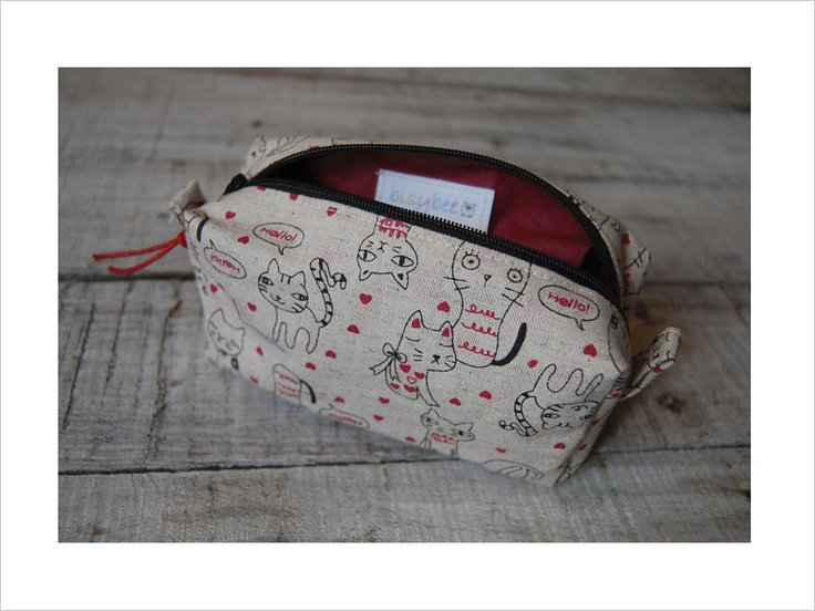"Cosmetic bag - beauty case ""cats"""