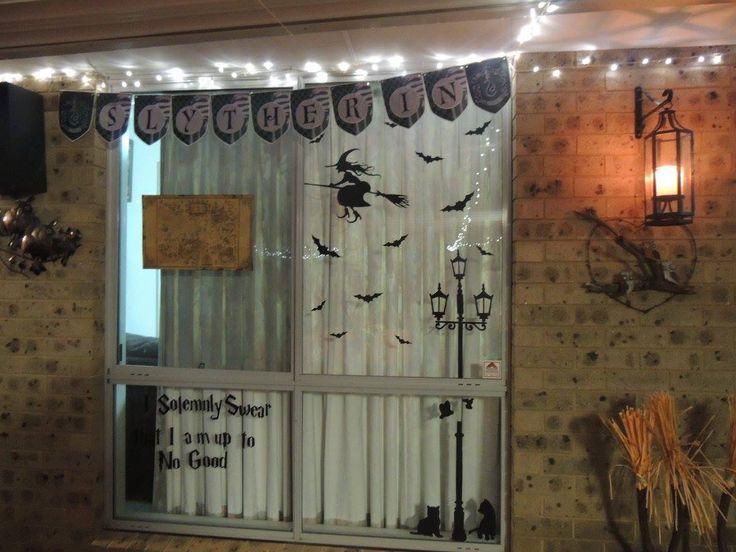Harry Potter decorations  #harrypotter #harrypotterparty #slytherin #hogwarts