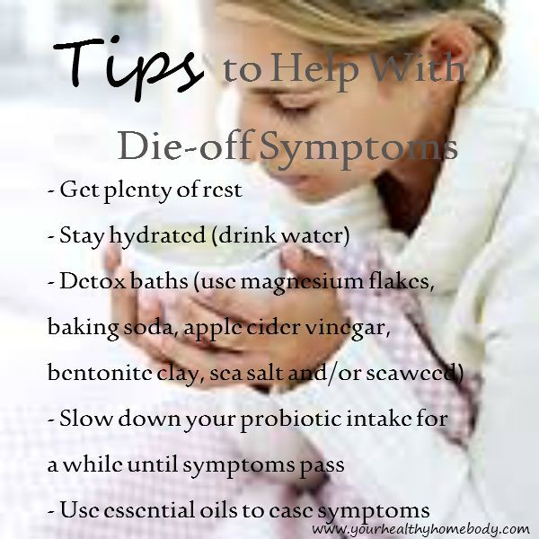 Tips to help with die-off symptoms www.yourhealthyhomebody.com