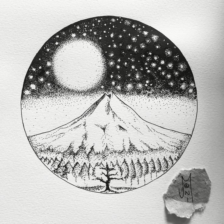 Pointilism illustration of  Mt Taranaki done by me ... link to my Facebook page where you can see all my artworks and get regular updates of my new works www.facebook.com/joniartist