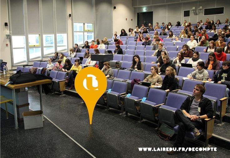 Amphi à l'Université Rennes 2