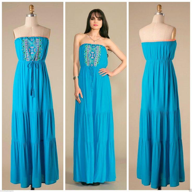 teal maxi dress ebay