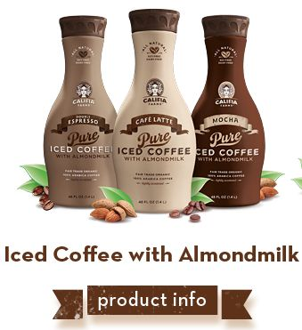 iced coffee califia farms, hopefully coming soon to a store near me!  Haven't tried it but it looks like a vegan starbucks iced latte, YUM!