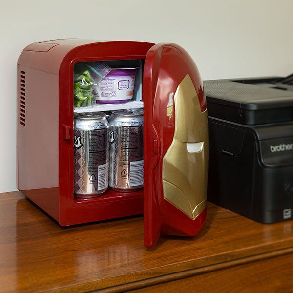 Iron Man Mini Fridge ...matches my TARDIS fridge!