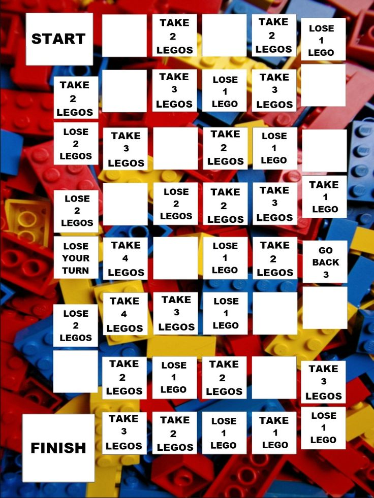 Lego Game Board printable download