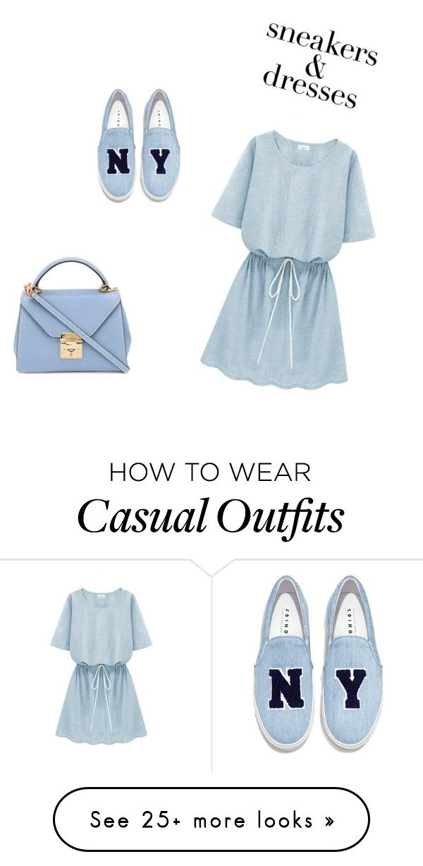 """a casual dress and shoes"" by kikagirl on Polyvore featuring Joshua's and Mark Cross"