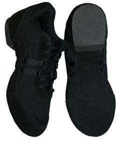 Sansha V931 Black Salsette Split Sole Jazz Shoe. Combination mesh/suede upper, suede/rubber split sole. Jazz shoes price from £21.00 at www.dancinginthestreet.com #dancinginthestreet
