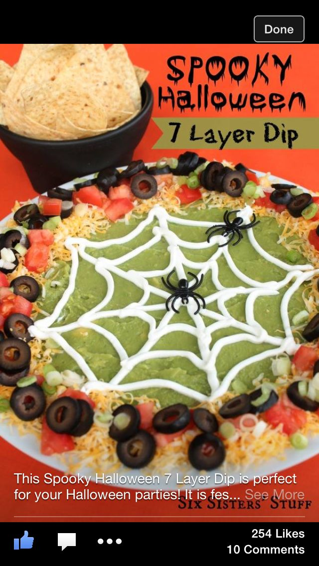 Halloween dip Party Foods to share Pinterest Halloween dip - spooky food ideas for halloween